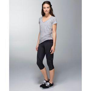 Lululemon Run: Pace Crop Wee Stripe Black / Black